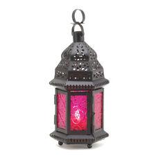 Gallery of Light Dark Pink Glass Candle Lantern