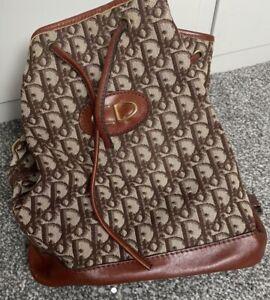 Dior Vintage Drawstring Bag