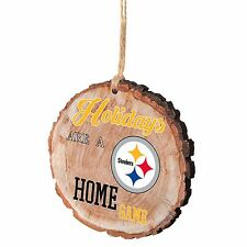 Pittsburgh Steelers Christmas Tree Ornament Stump New - Holidays are a Home Game