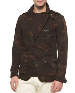 $995 Ralph Lauren Black Label Mens Camo Slim Military Sportcoat Blazer Jacket