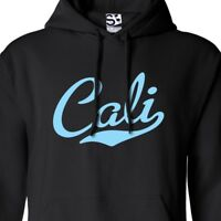 Cali Script & Tail HOODIE - Hooded California Republic Sweatshirt - All Colors