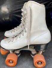 Vintage Roller Derby Skates Womens Size 6 White - Urethane 28 Wheels