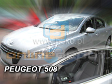 Wind Deflectors PEUGEOT 508 4/5-doors 2010-onwards 2-pc HEKO Tinted