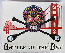 "Huge SUP ANTI-SLIP STICKER 22x18"" Stand Up Paddle Board Tape SKULL San Francisco"