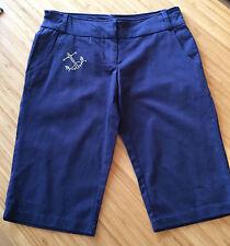 Colours Of The World Navy Diamante Anchor Knickerbocker Bermuda Shorts Size 6