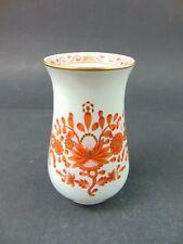 Kleine Vase Meissen Indische Malerei Koralle