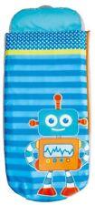 Blue ReadyBed Robot Print Boys Junior Kids Airbed Sleeping Bag in One 3 Years