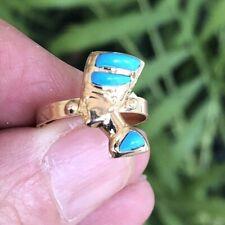 Egyptian Handmade turquoise Nefertiti ladies ring size Adjustable