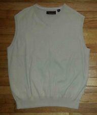 1393c XL Solid Tan GREG NORMAN Sleeveless Golf Sweater Vest!