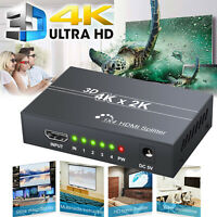 1 in 4 out Full HD HDMI Splitter Supports 1.4 HDCP Bypass 1080p 3D Resolutions