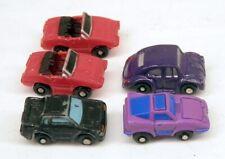 Micro Machines Lot of 5 Tiny Insiders Mini Vehicles including HTF Toyota MR2