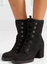 Stuart Weitzman $655 Boucle Climbing Boots Black Size 39 US 8.5 Barely Worn