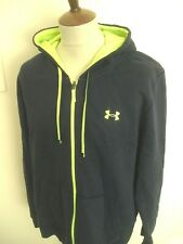 UNDER ARMOUR ZIP UP HOODED SWEAT SHIRT TOP  SIZE XL BLUE
