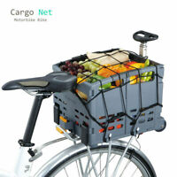Motorcycle 30x30cm Cargo Net Motorbike Bike Luggage Bungee Cord Net Black