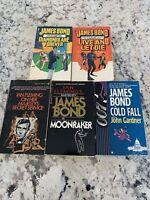 Lot of 4 Ian Flemming James Bond Novels Book  Paperback 1 Extra By John Gardner