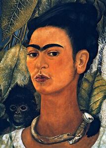 Frida Kahlo Self-Portrait with Monkey canvas print giclee 8X12&12X17