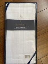 "New Brooks Brothers NIP 346"" Baker's Half Dozen 7 100% Cotton Handkerchiefs"