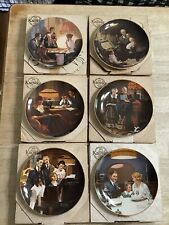 Norman Rockwell's Light Campaign Collectors Plate- Lot of 6 With Coa