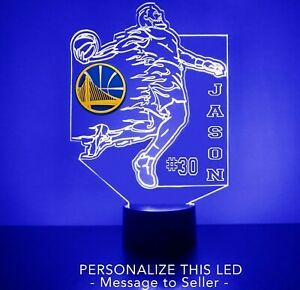 Golden State Warriors Basketball Player, LED Sports Fan Lamp, Personalized FREE