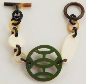 Set of 5 Chain Bracelets HANDMADE Organic Buffalo Horn Women Jewelry