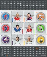 NHL. ALL-STARS - 6 = HOCKEY = Miniature Sheet of 6 sts Canada 2005 #2085 MNH VF