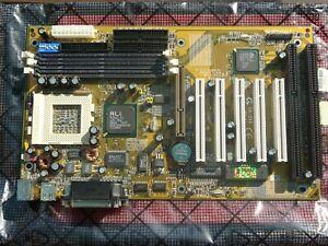 Gigabyte GA-5AX Rev 4.1 Super Socket 7 Motherboard AGP PCI ISA Aladdin 5 Award