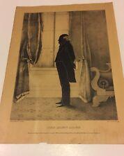 John Quincy Adams Reversed Silhouette Lithograph American President Kellogg