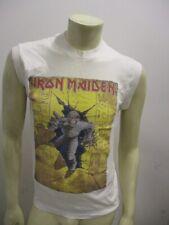 Vintage 1985 IRON MAIDEN Sleeveless White Tee Shirt WORLD SLAVERY Size LARGE