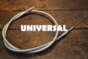 """Harley Universal Braided Stainless Steel Throttle Idle Cable 60"""" 47994"""