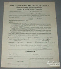 1931-32 La Tuque Cecil Wilkins Signed Hockey Contract