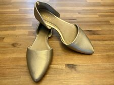 OLD NAVY Metallic Gold Pebble Texture Pointed Toe Slip-On Flat Shoes SIZE 8