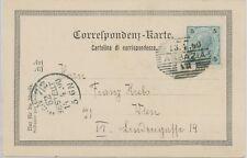 """ÖSTERREICH """"ABBAZIA"""" (Opatija Istrien Slowenien) Schraffenstpl. Gruß-Aus-AK 1900"""