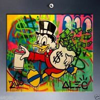 Alec Monopoly Extreme HUGE OIL PAINTING MODERN ABSTRACT WALL DECOR ART CANVAS