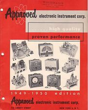 *APPROVED ELECTRONIC Co 1949-1950 Kit Catalog Competitor to Heathkit Eico Knight