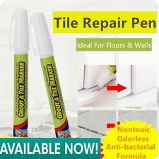 @_Grout Aide Tile Marker White Color Repair Wall Pen Packaging As Seen On TV E1
