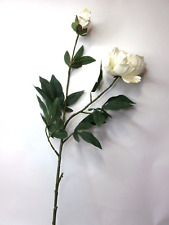 Artificial Cream Peony Stem Artificial Flowers Artificial Leaves Silk Flowers
