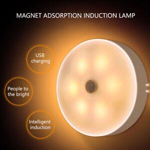 Motion Sensor Light  Recharge LED Night Light USB Cable Hallway🔥KitchenStairway