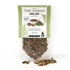 ESSBARE GRILLEN I (39,96€/100g) Speise-Insekten von Snack-Insects zum Kochen