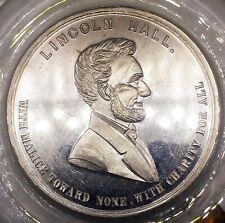 (1892) LOVETTS ABRAHAM LINCOLN COMMEMORATIVE TOKEN LINCOLN HALL FUND