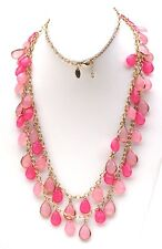 """Charming Charlie signed Coral Colored Acrylic Beaded 34"""" multi-strand necklace"""