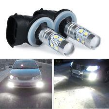 2x White High Power 2323 SMD 881 LED Fog Driving Light Lamp Bulbs 12V-24V 1200LM
