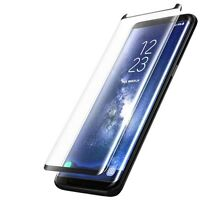 Samsung Galaxy S8 [Case Friendly] 3D TEMPERED GLASS Screen Protector - BLACK