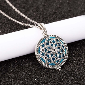 Diffuser Filigree Locket Essential Oil Perfume Necklace With Pads