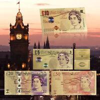 WR £5 £10 £20 £50 UK Pound Banknote Colorized Gift Set Gold  Banknote Set