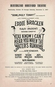 1967 vintage ad Eddie Bracken You Know I Can't Hear You When The Water's Running