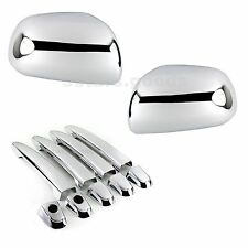 Accessories Chrome Side Mirror + Door Handle Covers For 2012-2015 Toyota Tacoma
