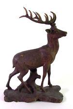 anmutiger  Hirsch - Holz geschnitzt - Zwölfender - black forrest deer