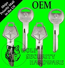 Lot of 4 Chrysler Mopar Logo OEM Ignition Door Y152 Trunk Y149 Key Blanks