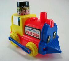 Vtg. 1970's Amloid JUMPIN' JIMMY CHOO-CHOO plastic train locomotive engine toy