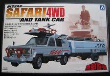 NISSAN Safari 4 WD con coche del tanque del remolque Kit de AOSHIMA 1:24 nuevo caja original